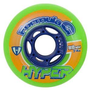 Hyper Wheels Hockey Indoor Formula G Era 4 Units Green 72 mm / 74A