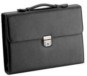 d & n DIN A4 schlanke Aktentasche schwarz Schreibmappe Konferenzmappe 5029-01