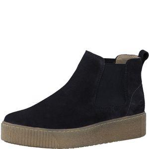 Tamaris Damen Stiefeletten Leder Boots 1-25813-25, Größe:41 EU, Farbe:Blau