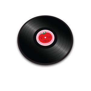 JOSEPHJOSEPH Glasschneidebrett Tomato Vinyl 30 cm schwarz Glas Tomato Vinyl