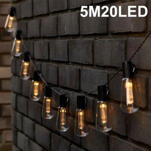 LED Solar Glühbirnen Lichterkette Garten Außen Beleuchtung Lampe Party Licht