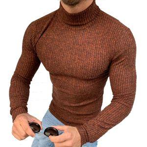 Megaman Herren Rollkragenpullover Rolli Hoher Rollkragen Pulli Shirt in  Sweater Warrm Größe 2XL Braun