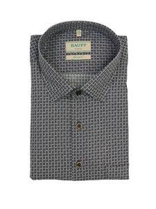 Modisches Langarm-Hemd mit Kentkragen von Haupt anthrazit, Größe:4XL