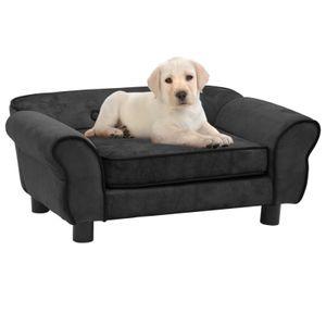 Hundesofa Dunkelgrau 72x45x30 cm Pluesch