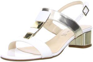 Vista Damen Sandaletten weiß/gold/beige, Größe:37, Farbe:Mehrfarbig