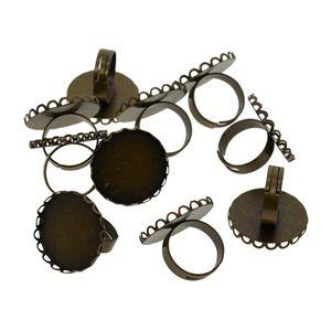 10 Verstellbare Ringbasen Runder Ringhalter Metallringablage