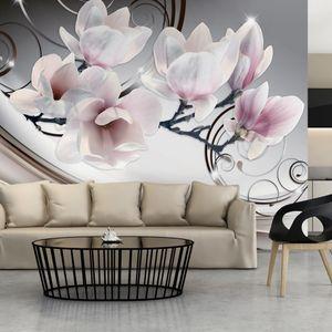 Basera Selbstklebende Fototapete Magnoliamotiv b-A-0222-a-d, mit UV-Schutz, 343x245 cm
