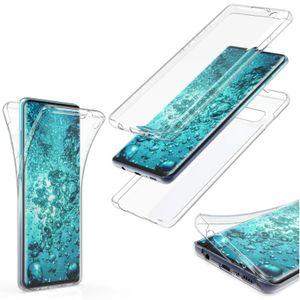 Hülle für Samsung Galaxy A20E SM-A202F Komplettschutz 360 Grad TPU Silikon Tasche Full Cover Case Transparent