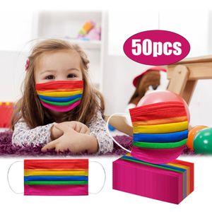 50Pc Neue Einweg Niedliche Kinder Druckmuster Maske Einwegmaske