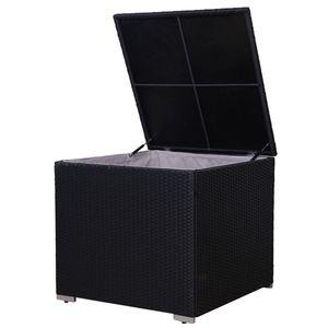 SVITA Kissenbox für Rattan Lounge Lugano / California in schwarz
