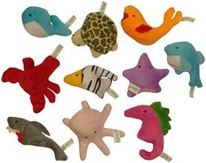 Baby Fingerpuppen-Set Familie zum Spielen und Lernen, Modell:Meerestiere