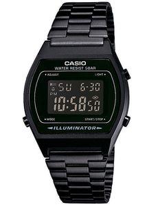 Casio Collection Retro Design Digitale Armbanduhr schwarz B640WB-1BEF