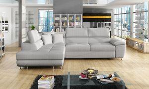 Mirjan24 Ecksofa Cotere, Eckcouch mit Schlaffunktion und Bettkasten, L-Form Sofa vom Hersteller, Wohnlandschaft  (Majorka 04, Seite: Links)