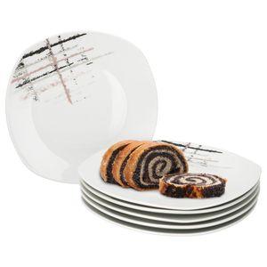 MamboCat 6er Set Kuchenteller Crossy Industrial Style I 6 Dessertteller Ø 19 cm