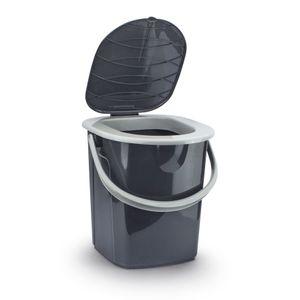 BranQ Reise WC Campingtoilette Eimertoilette tragbare Outdoor Toilette Grau