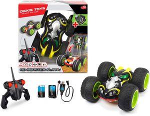 Dickie Toys RC Monster Flippy 201119031. RTR. Spielzeugauto mit Funfernsteuerung. Rotations- und Flipfunktion. Mit Licht und Hochleistungsnummireifen. Geschwindigkeit bis zu 10 km/h. Ab 6 Jahren.