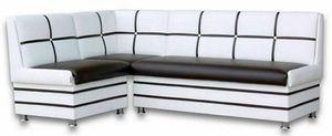 """Sitzbank Eckbank """"Korsika MAXI"""" 213x142 cm Essecke Modern Kunstleder schwarz/weiß mit Stauraum 381SW"""