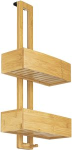 ONVAYA® Duschregal ohne Bohren   aus Bambus   Badregal zum Hängen   Duschablage aus Holz   Hängeregal für die Dusche