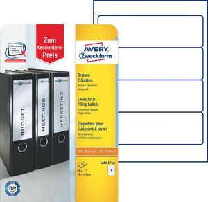 AVERY Zweckform Ordnerrücken Etiketten 59 x 192 mm weiß kurz breit 40 Etiketten