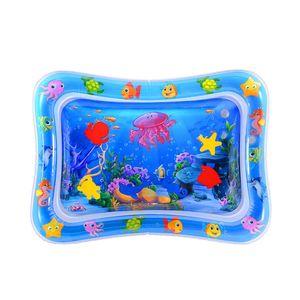 Baby Kinder aufblasbare Wassermatte, Kuaetily Wasser Spielmatte Wasserkisse Aktivitätscenter Bauchzeit BPA frei