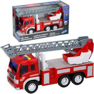 Feuerwehrauto 1:16 groß Feuerwehrwagen Feuerwehr Drehleiter Sound Friktion 10136