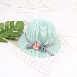 Kinder Maedchen Sommer Sun Strohhut Blume einstellbar Dome Panama Beach Holiday Cap