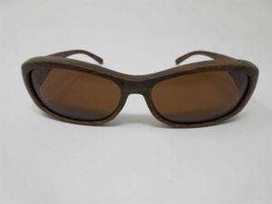 Polarisierende Überbrille Holzdesign Sonnenbrille für Brillenträger 100%UV CAT3