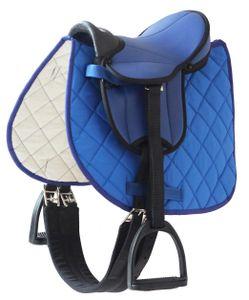 Sattelset, blau für Susi + Tamme