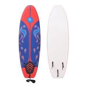 Surfboard Blau und Rot 170 cm