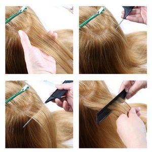 2 Stück Profi Toupierkamm Haarkamm Nadelstielkamm - Toupier-Kamm Stielkamm Färbekamm für Friseursalon oder Zuhause
