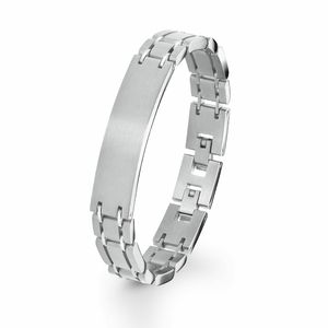 s.Oliver Armband für Herren, Edelstahl Silber