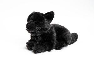 Uni-Toys - Katze schwarz, liegend - 20 cm (Länge) - Plüsch-Katze - Plüschtier, Kuscheltier