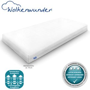 Wolkenwunder Gästebett Jugendbett Matratze für einen erholsamen Schlaf, Bezug waschbar , Größe:90x200 cm