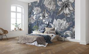 "Komar Vlies Fototapete ""Merian Blue"" - Größe: 350 x 250 cm (Breite x Höhe), 7 Bahnen"
