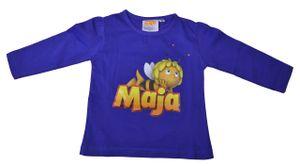Kinder T-Shirt Langarm, Farbe:Biene Maja Blau, Gr. :104