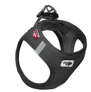 Curli Vest Air-Mesh Geschirr  Farbe: Schwarz, Größe: Medium - Brust 41-46 cm