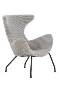 SalesFever Relax-Sessel | Bezug Texturstoff grau | Gestell Metall schwarz | B 78 x T 77 x H 96 cm