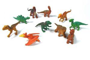 10x Dinosaurier Baby Kinder Tierfiguren Aufstellfiguren Miniblings Dinos T-Rex