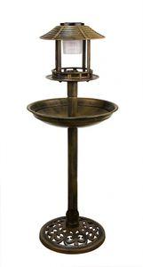 Vogeltränke Solar Gold-Bronze-Optik stehend mit Ständer XXL 96cm