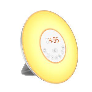 Denver CRL-330 Lichtwecker mit LED Sonnenaufgang-Simulation, Farbwechsel LED Beleuchtung, Radiowecker und Naturklängen - Radio Wecker, LED-Wecker, Naturklang Wecker, Naturklänge, Aufwachlicht