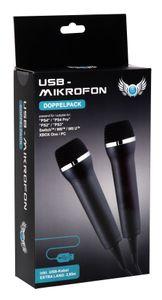 USB Mikrofon Doppelpack (kompatibel mit PS4, Switch, Xbox One etc.)