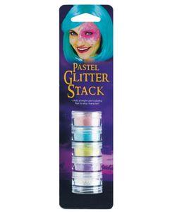 Glitzerndes Make-up-Set mit Pastellfarben