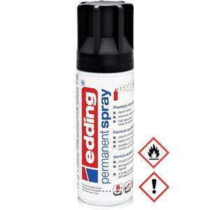 Edding Permanent Spray Premium Acryllack in tiefschwarz glänzend 200ml