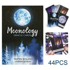 44 PCS Cards Tarot Tarotkarten Moonology Oracle Karten Deck Tarotkarten Kartenspiele Orakelkarten Spiel