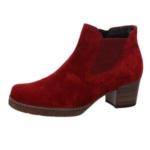 Gabor Comfort  Damenschuhe Stiefeletten Reißverschluss Stiefelette Rot Elegant, Schuhgröße:EUR 38.5 | UK 5.5
