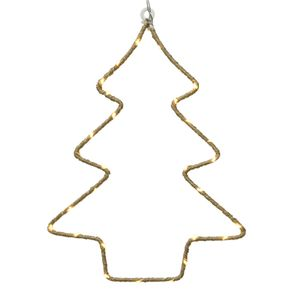 Tannenbaum 30 Micro LED warmweiß Drahtbaum Weihnachtsbaum Fensterbild Hanf