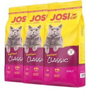 3 x 10 kg Josera JosiCat Sterilised Classic
