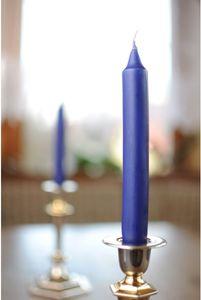 VillaVerde 487320 Leuchterkerze Dunkelblau 10 Stück 21 x 175 mm Kerze +/- 6 h Brenndauer