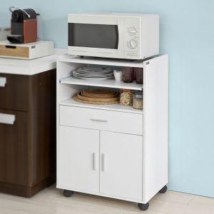 SoBuy® Küchenschrank,Mikrowellenschrank mit einer Schieb-Ablage,FSB09-W