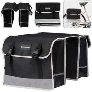 Fahrrad-Doppeltasche von Dunlop schwarz
